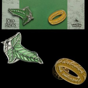 Elfen Leaf And One Ring Pins 2-PACK